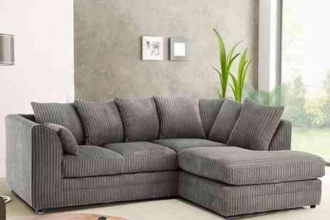 Sit Down Sooner - Left or right hand facing fabric corner sofa - Save 54%