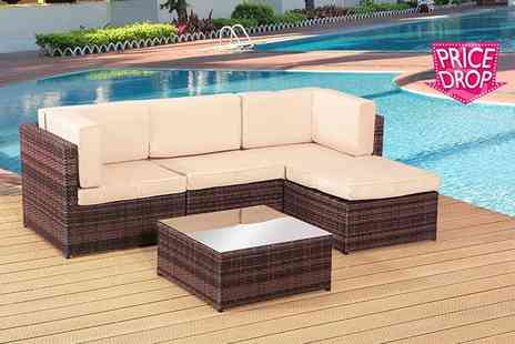 Rattan Trends - Four seater rattan corner sofa set - Save 73%