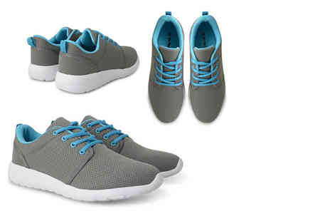 Online Avenue - Pair of womens grey mesh trainers - Save 65%