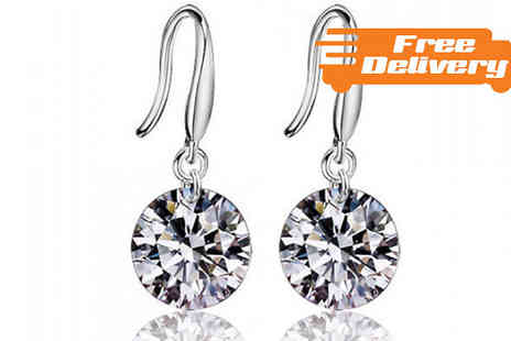 Bazaar me - Silver Plated Crystal Rhinestone Earrings Free Delivery - Save 77%