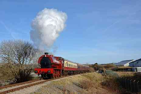 Pontypool and Blaenavon Railway - Ticket a steam train journey for two adults or family of five people - Save 33%