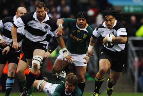 Barbarians vs South Africa - Adult Category B ticket to see the Barbarians vs South Africa rugby match at Wembley Stadium on 5th Nov - Save 27%
