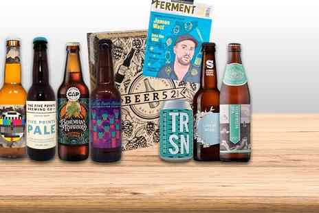 Beer52 - Pack of eight craft beers with snacks and a copy of Ferment bookazine - Save 50%