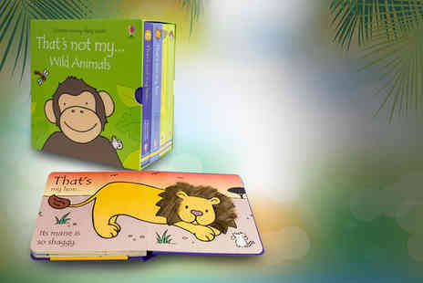 Price Cut Books - Usborne Touchy Feely Wild Animals four book collection - Save 52%