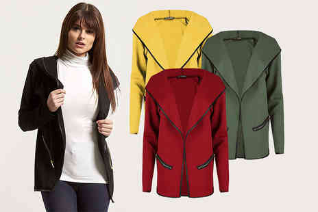 Bejealous - Womens side zip hooded jacket cardigan choose from four colours - Save 67%