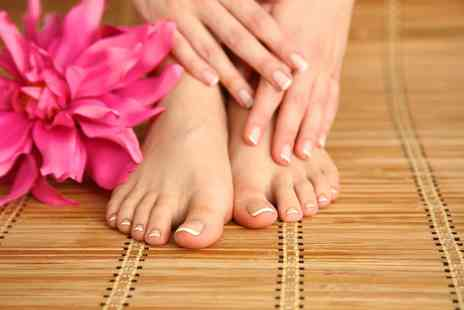 Viauty - Shellac manicure or pedicure or both - Save 60%
