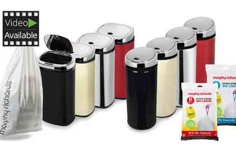 Groupon Goods Global GmbH - Morphy Richards Sensor Bins 30L, 42L and 50L with 20 Scented Bin Liners - Save 0%
