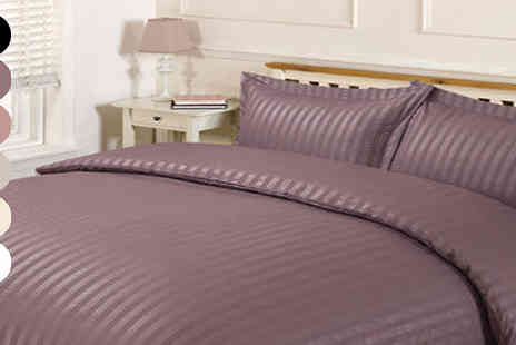 CB4 Accessories Limited - Soft Stripe Duvet Set Three Sizes, Six Colours - Save 0%