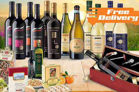 Giordano Wines - 19 Piece Italian Wine and Food Hamper Include Free Delivery - Save 59%