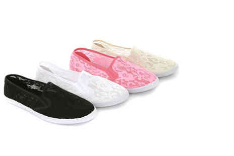 London Shoe Co - Lace summer plimsolls - Save 23%