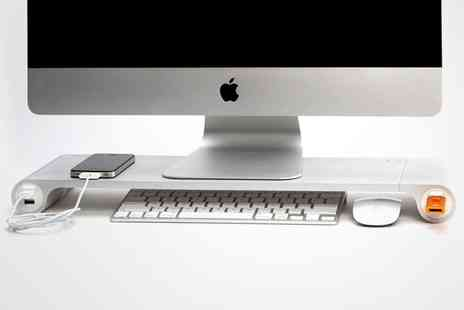 Groupon Goods Global GmbH - Space Bar Aluminium Desk Organizer with Six Port USB Hub With Free Delivery - Save 0%