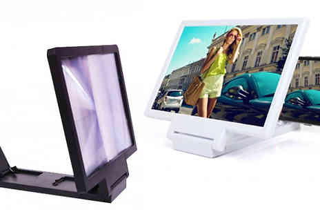 Affinity International - Mobile Phone Screen Magnifier Choose From Two Colours - Save 40%