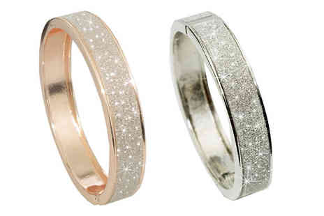Aspire - Crystal Dust Bangle Choose from Two Colours - Save 80%