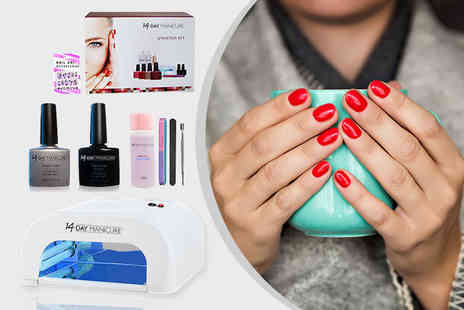 14 Day Manicure - Matte gel nail polish starter kit with two colours - Save 88%