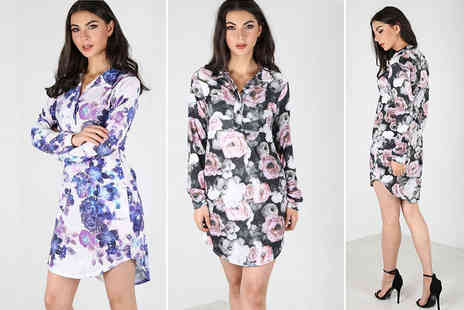 Bejealous - Long sleeved printed shirt dress - Save 56%
