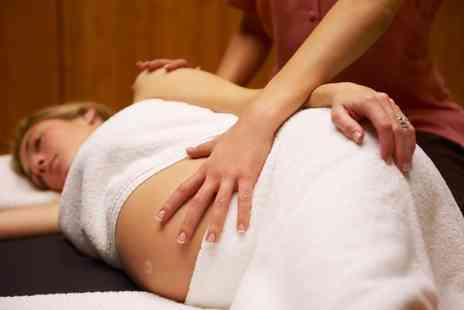 Charlie at Just Angels - Prenatal Back, Neck and Shoulder or Full Body Massage - Save 0%