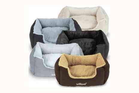 Groupon Goods Global GmbH -  Padded Sofa Fleece Lined Pet Bed in Choice of Colour - Save 0%