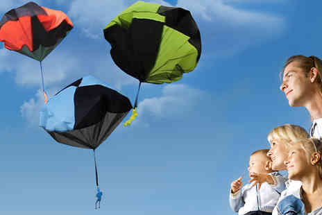 Last Chance Supplies - Set of 5 Colourful Parachute Toys - Save 63%