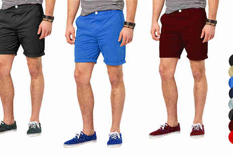 Stallion Clothing - Mens Cargo Design Chino Shorts - Save 0%