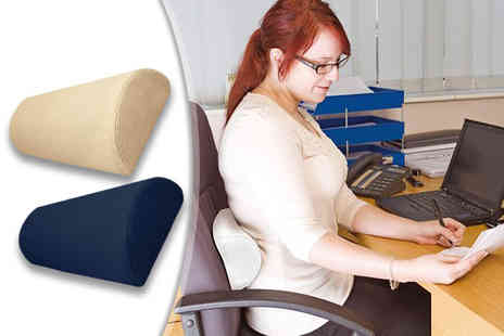 Zoozio - Half moon memory foam lumbar support choose from two colours - Save 50%