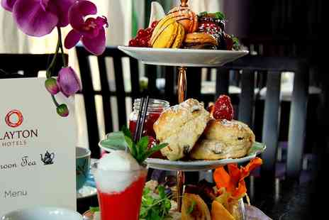 Clayton Hotel Cardiff - Afternoon Tea with Pimms Cocktail for Two or Four - Save 37%