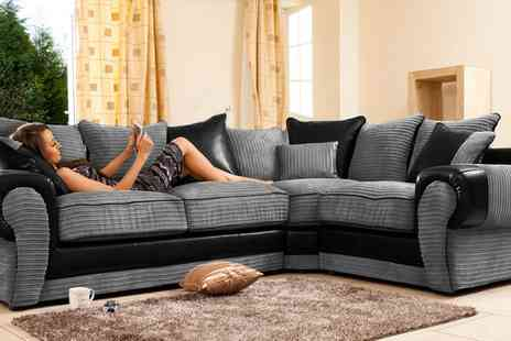 Groupon Goods Global GmbH - Lavish Fabric Corner Sofa in Choice of Colour With Free Delivery - Save 0%