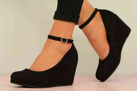 Groupon Goods Global GmbH - Womens Ankle Strap Wedges - Save 0%
