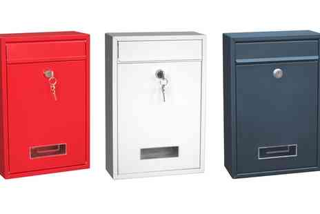 Groupon Goods Global GmbH - Painted Steel Post Box - Save 0%