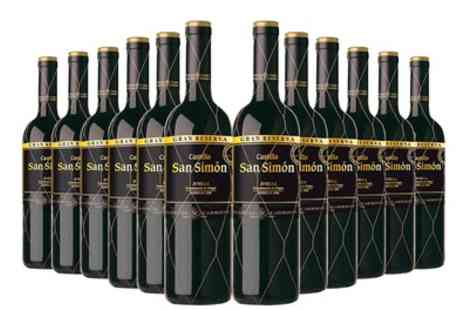 The Vineyard Club - 12 Bottles of Castillo San Simon Gran Reserva Red Wine With Free Delivery - Save 69%