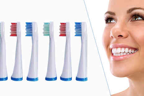 Celebrity Smile - 6 Replacement Brush Heads - Save 80%