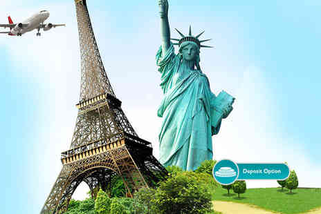 ClearSky Holidays - Two night Paris and three night New York break including flights and accommodation - Save 61%