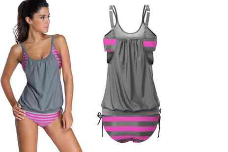 Dress Room - Stripe tankini - Save 74%