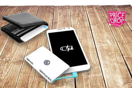 Heads Group - Ultra slim, credit card sized smartphone PowerBank - Save 75%