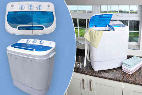 Easylife - Compact semi automatic twin tub washing machine - Save 49%