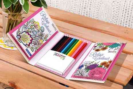 Wowcher Direct - Colour therapy travel colouring kit - Save 50%