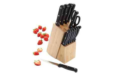 Groupon Goods Global GmbH - 13 Piece Kitchen Knife Block Set One or Two - Save 0%