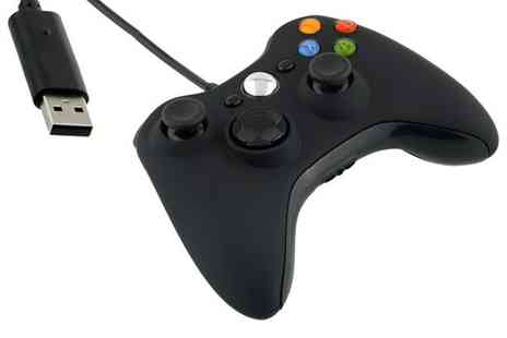 Groupon Goods Global GmbH - Official Microsoft Xbox 360 Wired Controller PC Black 52A00005 - Save 0%