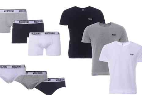 Groupon Goods Global GmbH - Mens Moschino Underwear or TShirt - Save 0%
