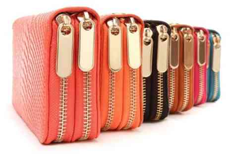 Groupon Goods Global GmbH - Leather Double Zipped Purse in Choice of Colour - Save 80%