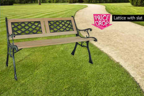 ViVo Technologies - Three seater wooden garden bench choose from three designs - Save 82%