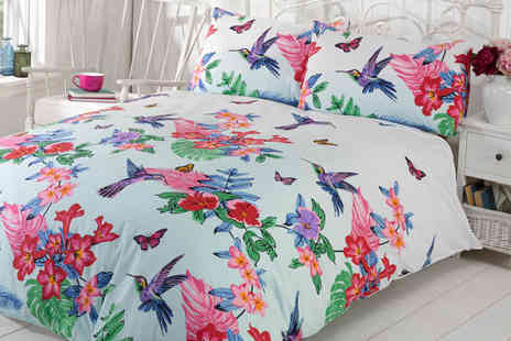 Linens R Us - Single, double or king size Hummingbird duvet cover set - Save 69%