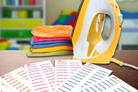 Eastmon Online - 44 or 88 personalised iron on kids clothes labels - Save 72%