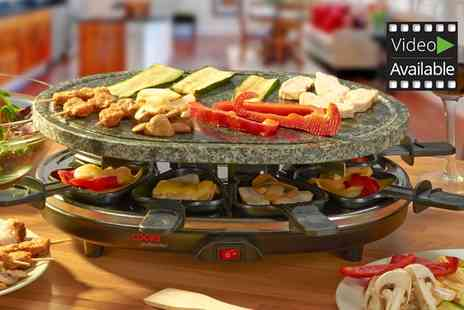 Groupon Goods Global GmbH - Cooks Professional Stone Raclette Grill for Eight People With Free Delivery - Save 0%