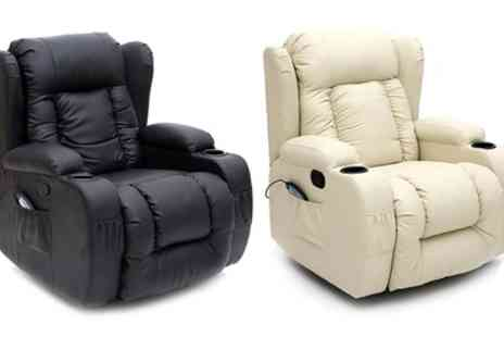 Groupon Goods Global GmbH - Ceaser 9 in 1 Massage Recliner Chair in Choice of Colour With Free Delivery - Save 56%
