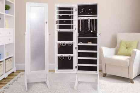 Groupon Goods Global GmbH - Freestanding Jewellery Cabinet With Free Delivery - Save 0%