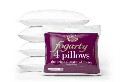 Groupon Goods Global GmbH - Four Fogarty Duck Feather Pillows - Save 0%