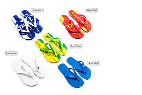 Dream Price Direct - Pair of Dupe flip flops chose from five fabulous styles - Save 85%