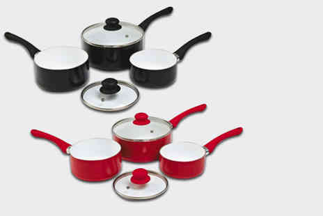 Qudos Direct - Five piece saucepan set - Save 67%