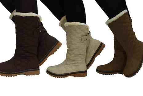 Groupon Goods Global GmbH - Womens Quilted Boots - Save 0%