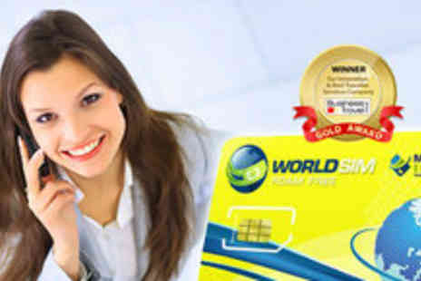 WorldSIM - International sim card including £10 pre-paid credit - Save 75%